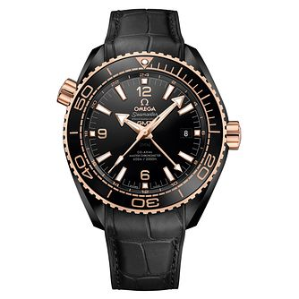 Omega Seamaster Men's 18ct Rose Gold Ceramic Strap Watch - Product number 5297788