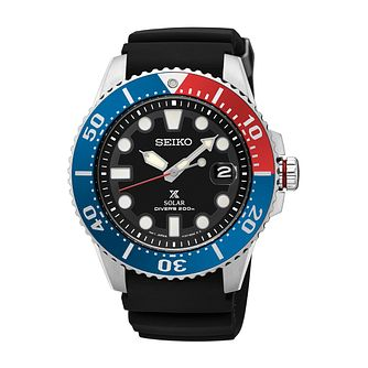 Seiko Prospex Solar Men's Black Silicone Strap Watch - Product number 5313015