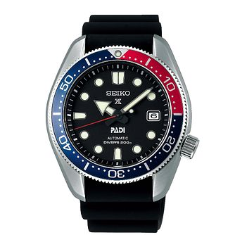 Seiko Prospex Automatic Men's Black Silicone Strap Watch - Product number 5313031