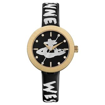 Vivienne Westwood Southbank Black Leather Strap Watch - Product number 5313112