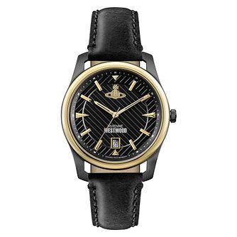 Vivienne Westwood Holborn Men's Black Leather Strap Watch - Product number 5313171