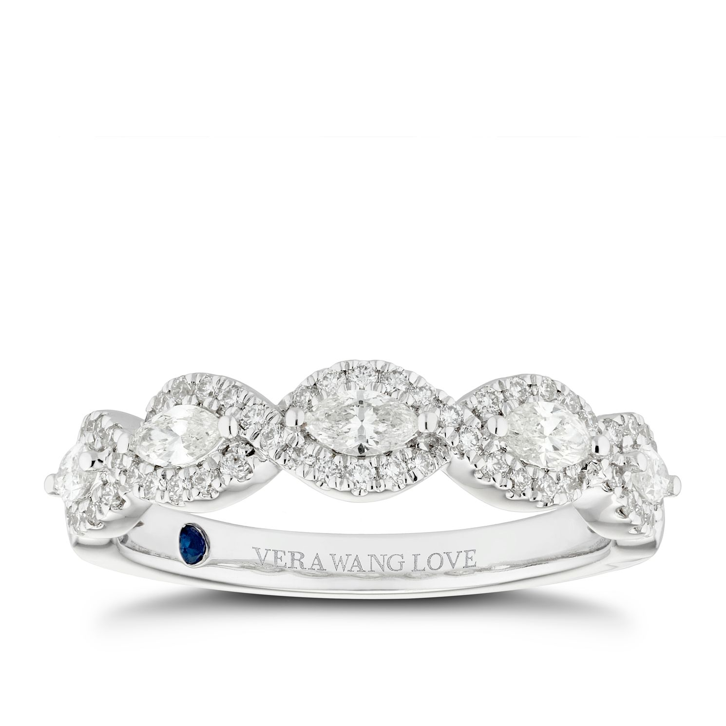 Vera Wang 18ct White Gold 0.45ct Diamond Eternity Ring - Product number 5313295