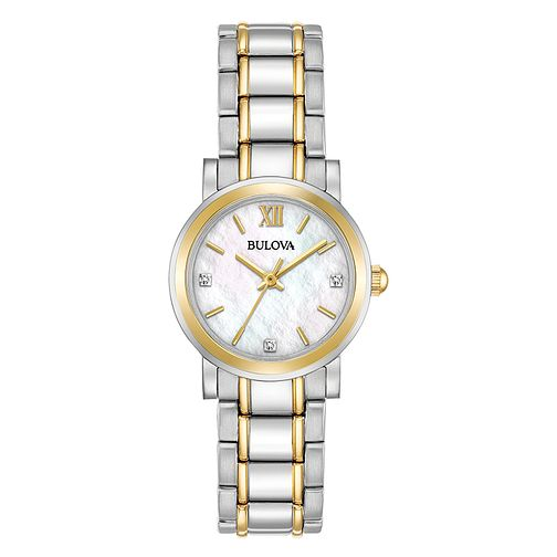 Bulova Ladies' 2 Colour Stainless Steel Bracelet Watch - Product number 5315603