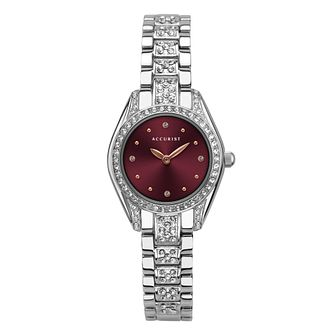 Accurist Stone Set Ladies' Stainless Steel Bracelet Watch - Product number 5316391