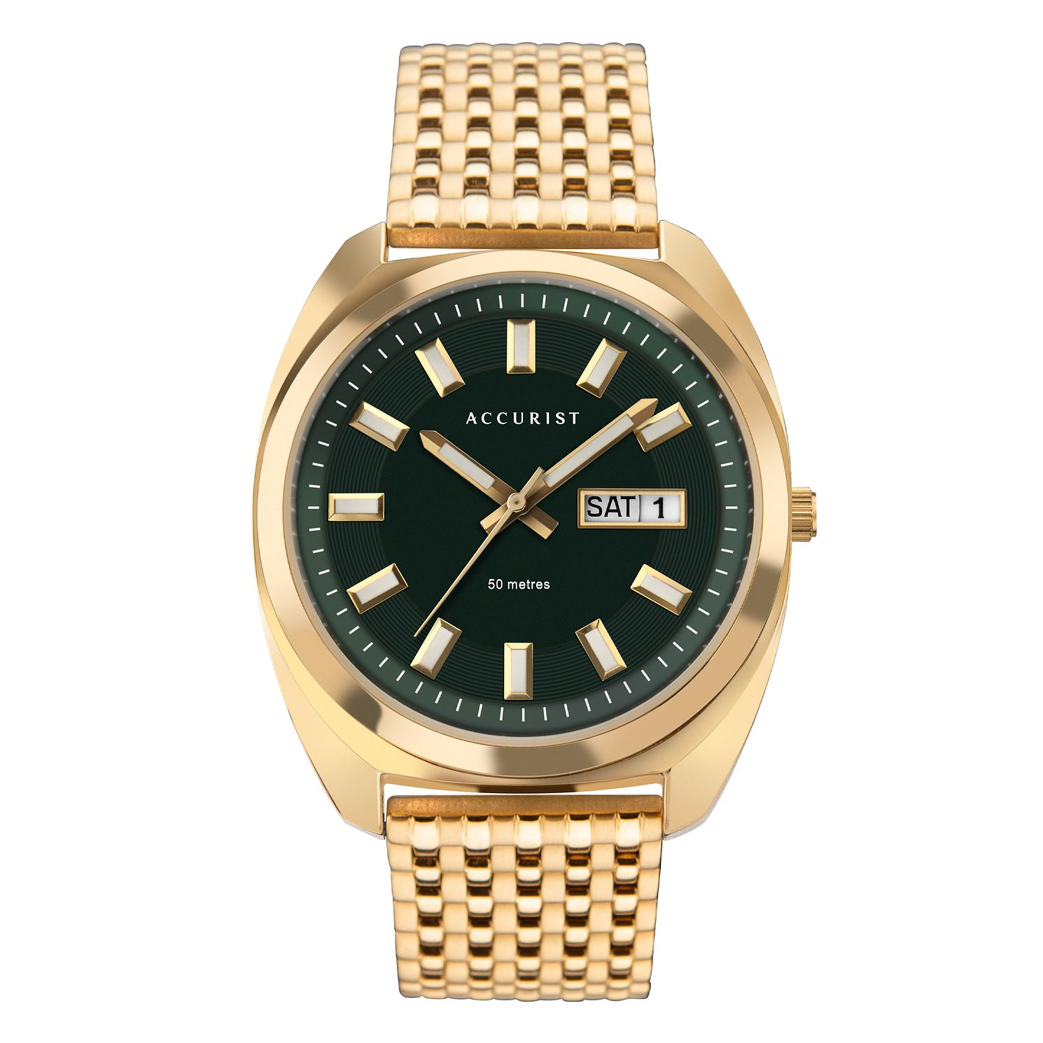 Accurist Men's Gold Tone Mesh Bracelet Watch - Product number 5316677