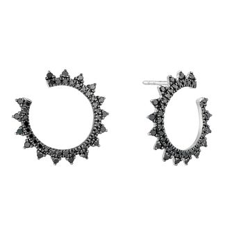 Vera Wang Silver 0.58ct Treated Black Diamond Earrings - Product number 5318343