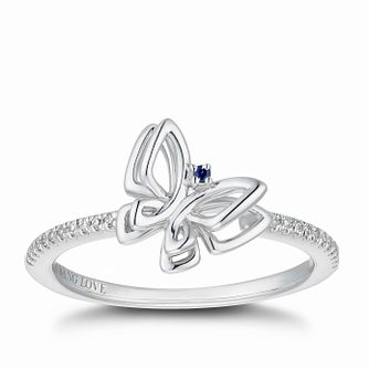 Vera Wang Silver Diamond Butterfly Ring - Product number 5319420