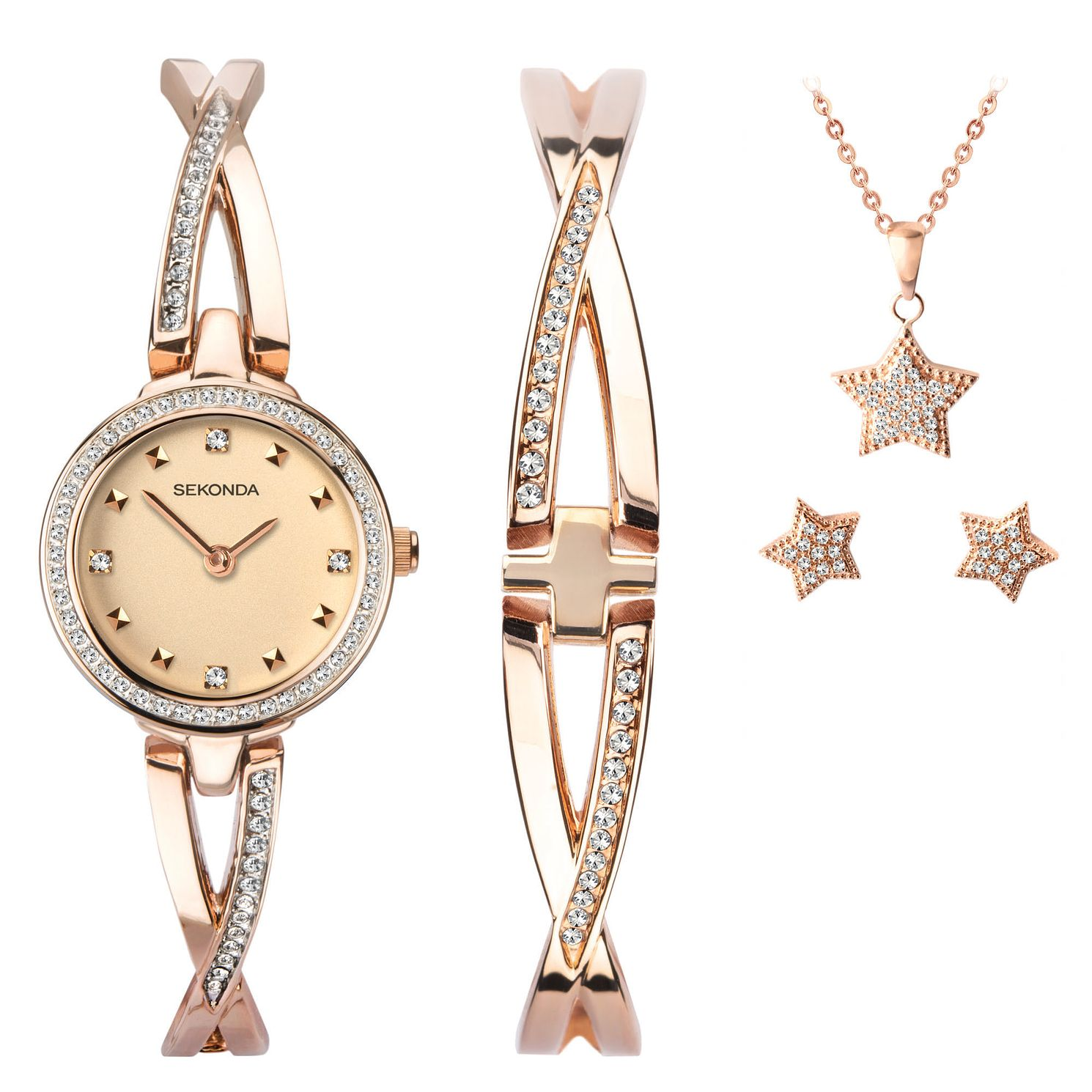 Sekonda Crystal Star Ladies' Watch & Jewellery Gift Set - Product number 5320453