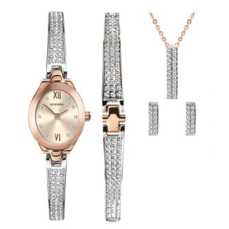 Sekonda Crystal Bar Ladies' Watch & Jewellery Gift Set - Product number 5320461