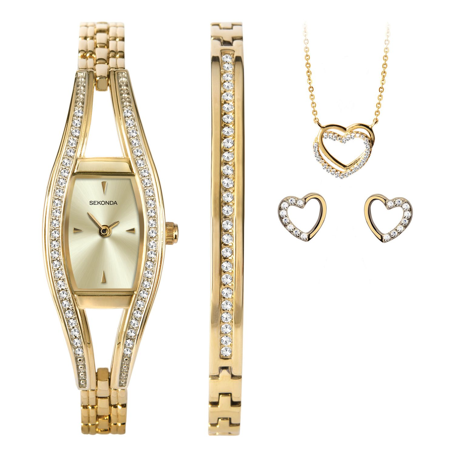 Sekonda Crystal Heart Ladies' Watch & Jewellery Gift Set - Product number 5320488