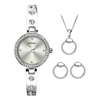 Sekonda Crystal Ladies' Watch & Jewellery Gift Set - Product number 5320518