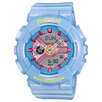 Casio Baby G Ladies' Blue Rubber Strap Watch - Product number 5320542