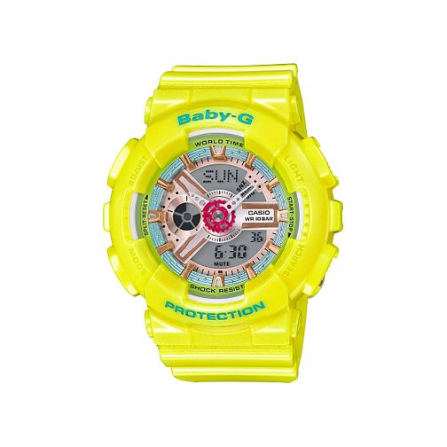 Casio Baby G Ladies' Yellow Rubber Strap Watch - Product number 5320569