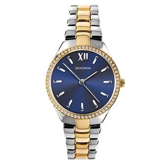 Sekonda Crystal Ladies' Two Tone Bracelet Watch - Product number 5320828