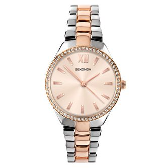 Sekonda Crystal Ladies' Two Tone Bracelet Watch - Product number 5320836