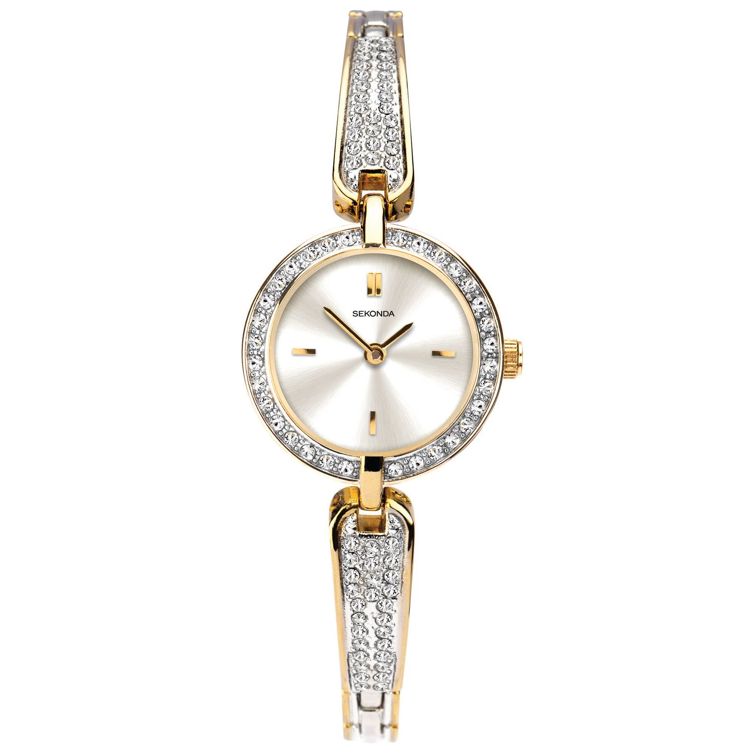 Sekonda Crystal Ladies' Two Tone Bracelet Watch - Product number 5321190