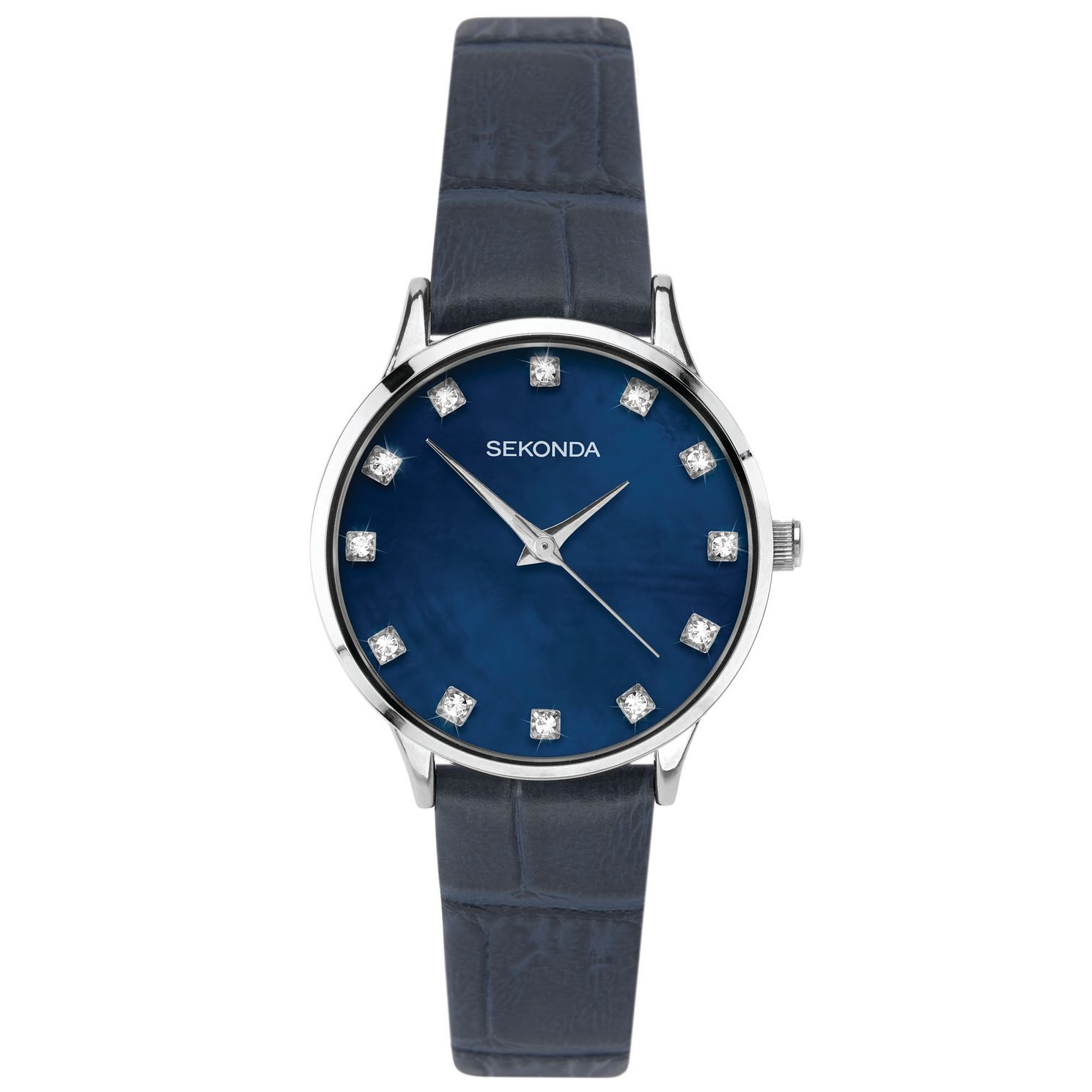 Sekonda Crystal Ladies' Blue PU Strap Watch - Product number 5321239