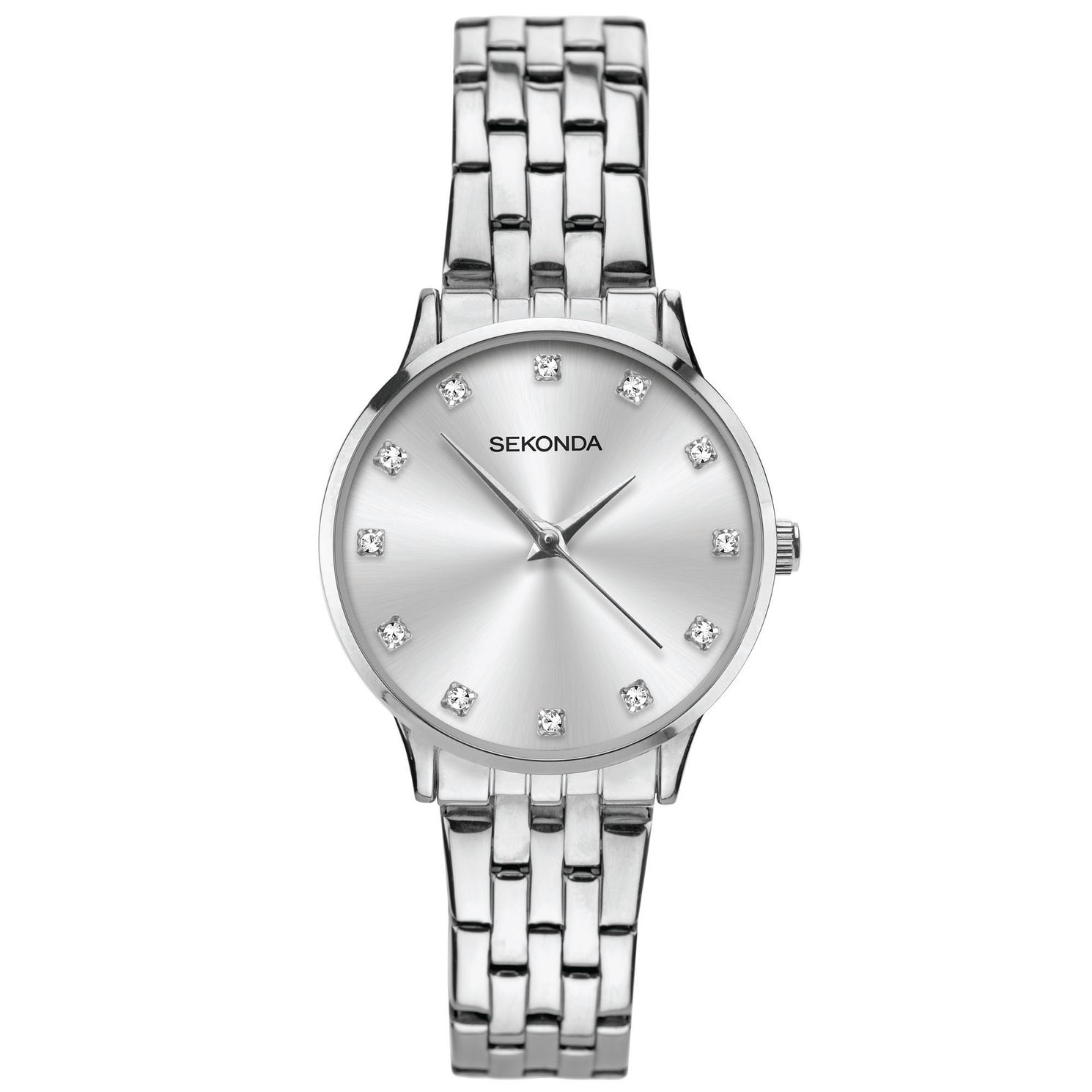 Sekonda Crystal Ladies' Silver Tone Bracelet Watch - Product number 5321298