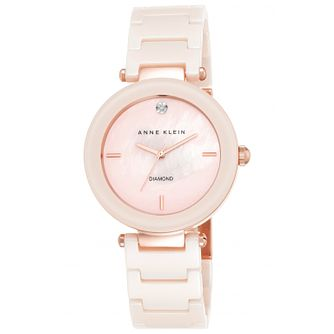 Anne Klein Ladies' Pink Ceramic Bracelet Watch - Product number 5321476