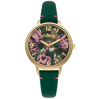 Cath Kidston Ladies' Green Leather Strap Watch - Product number 5321794