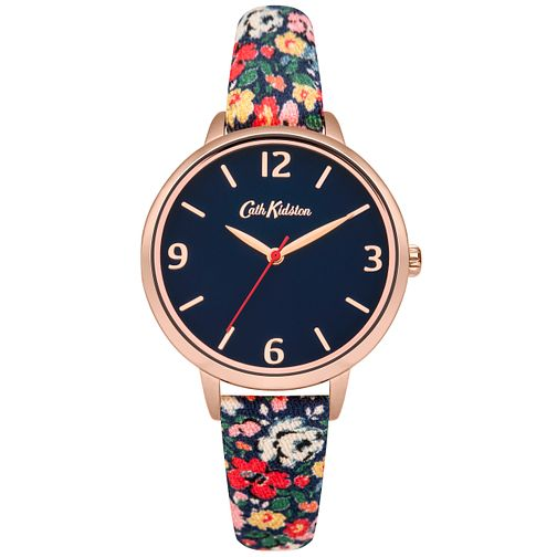 Cath Kidston Ladies' Navy Fabric Strap Watch - Product number 5321859