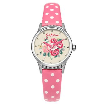 Cath Kidston Ladies' Pink PU Strap Watch - Product number 5321972