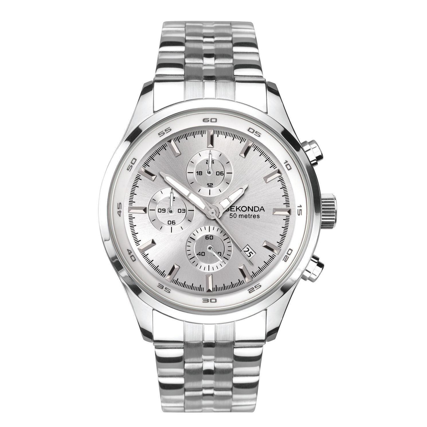 Sekonda Men's Dual-Time Stainless Steel Bracelet Watch - Product number 5322235