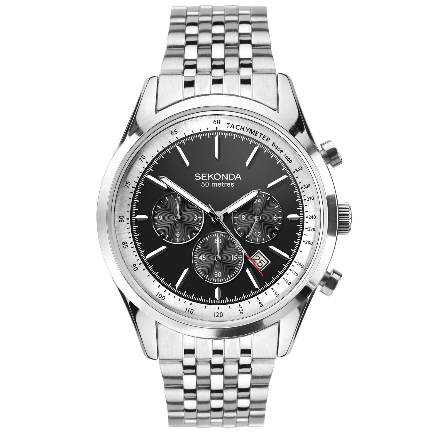 Sekonda Men's Dual Time Stainless Steel Bracelet Watch - Product number 5322294