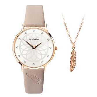 Sekonda Editions Nude Strap Watch & Feather Bracelet - Product number 5322340