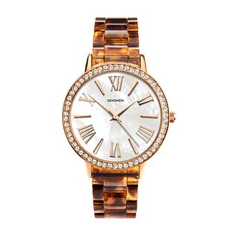 Sekonda Crystal Ladies' Brown Plastic Bracelet Watch - Product number 5322790