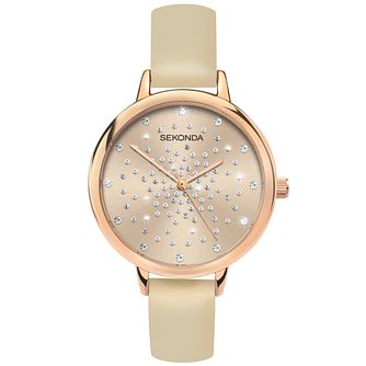 Sekonda Crystal Ladies' Nude PU Strap Watch - Product number 5322928