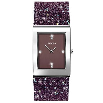 Seksy Rocks® Ladies' Purple Swarovski Crystal Bracelet Watch - Product number 5323061