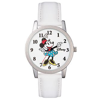 Disney Minnie Mouse White Leather Strap Watch - Product number 5323150