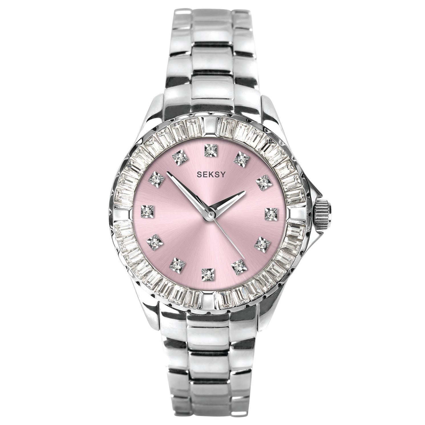 Seksy Rocks® Ladies' Stainless Steel Bracelet Watch - Product number 5323290