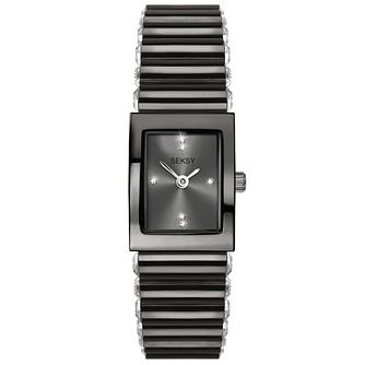 Seksy Edge Ladies' Grey Stainless Steel Bracelet Watch - Product number 5324831