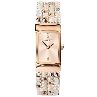 Seksy Ladies' Two Tone Cabachon Bracelet Watch - Product number 5326265