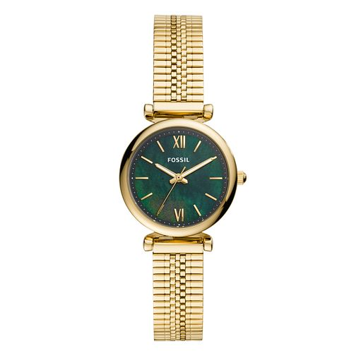 Fossil Carlie Mini Ladies' Gold Tone Mesh Bracelet Watch - Product number 5326338