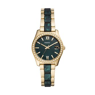 Fossil Scarlette Mini Ladies' Two Tone Bracelet Watch - Product number 5326397