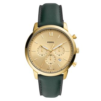 Fossil Neutra Chrono Men's Dark Green Leather Strap Watch - Product number 5326478