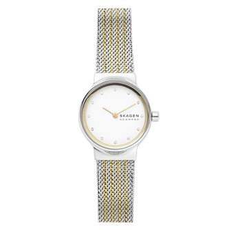 Skagen Freja Ladies' Two Tone Mesh Bracelet Watch - Product number 5326516