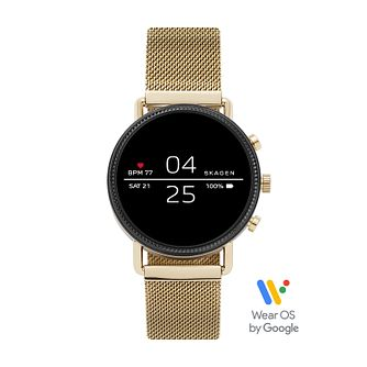 Skagen Falster 2 Gold Tone Mesh Bracelet Smartwatch - Product number 5326540