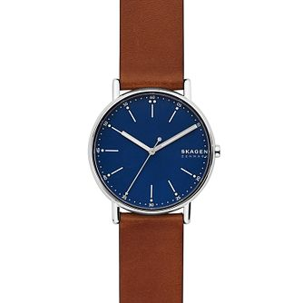 Skagen Signatur Men's Brown Leather Strap Watch - Product number 5326575