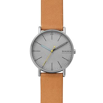 Skagen Signatur Men's Tan Leather Strap Watch - Product number 5326583