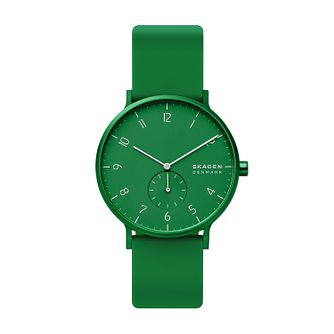Skagen Aaren Kulor Green Silicone Strap Watch - Product number 5326605