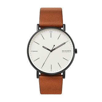 Skagen Signatur Men's Brown Leather Strap Watch - Product number 5326621