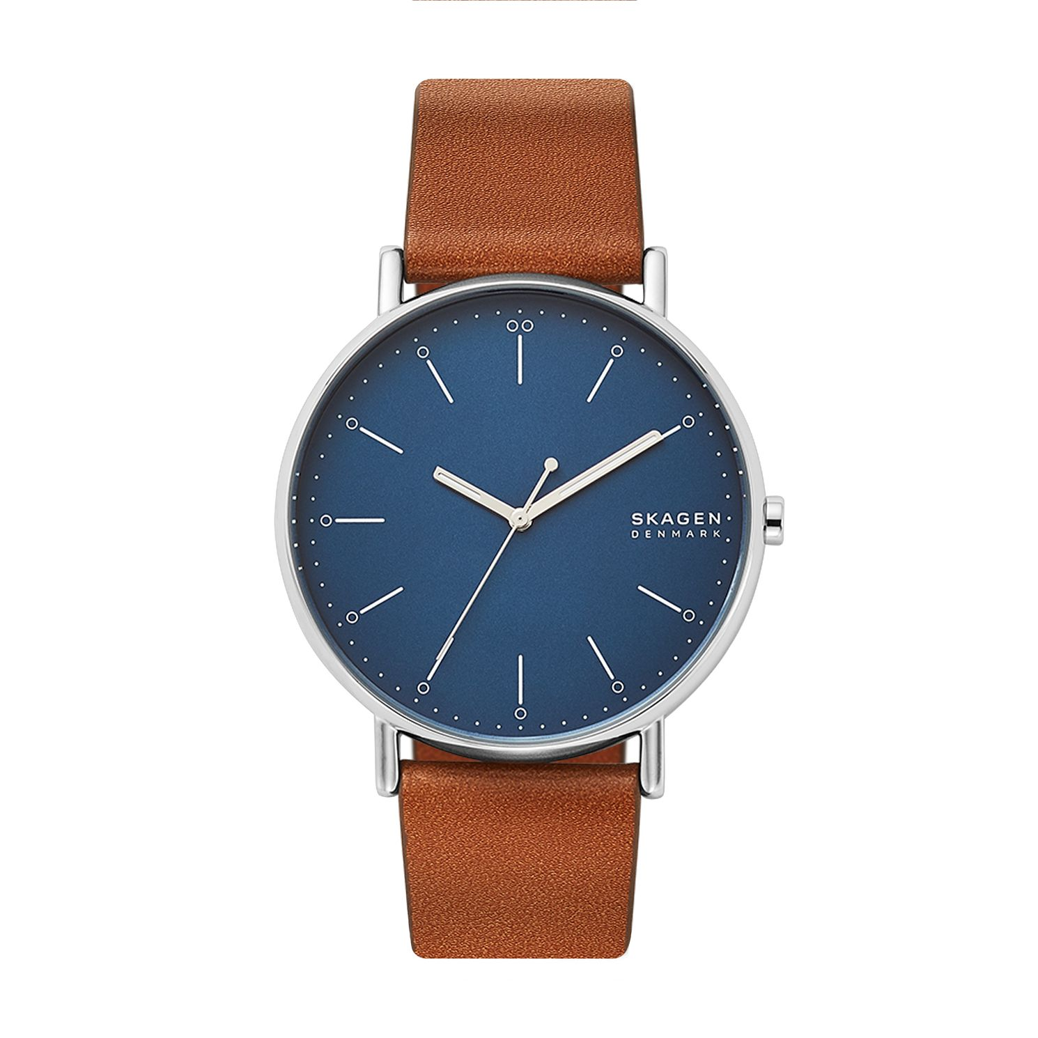 Skagen Signatur Men's Brown Leather Strap Watch - Product number 5326656