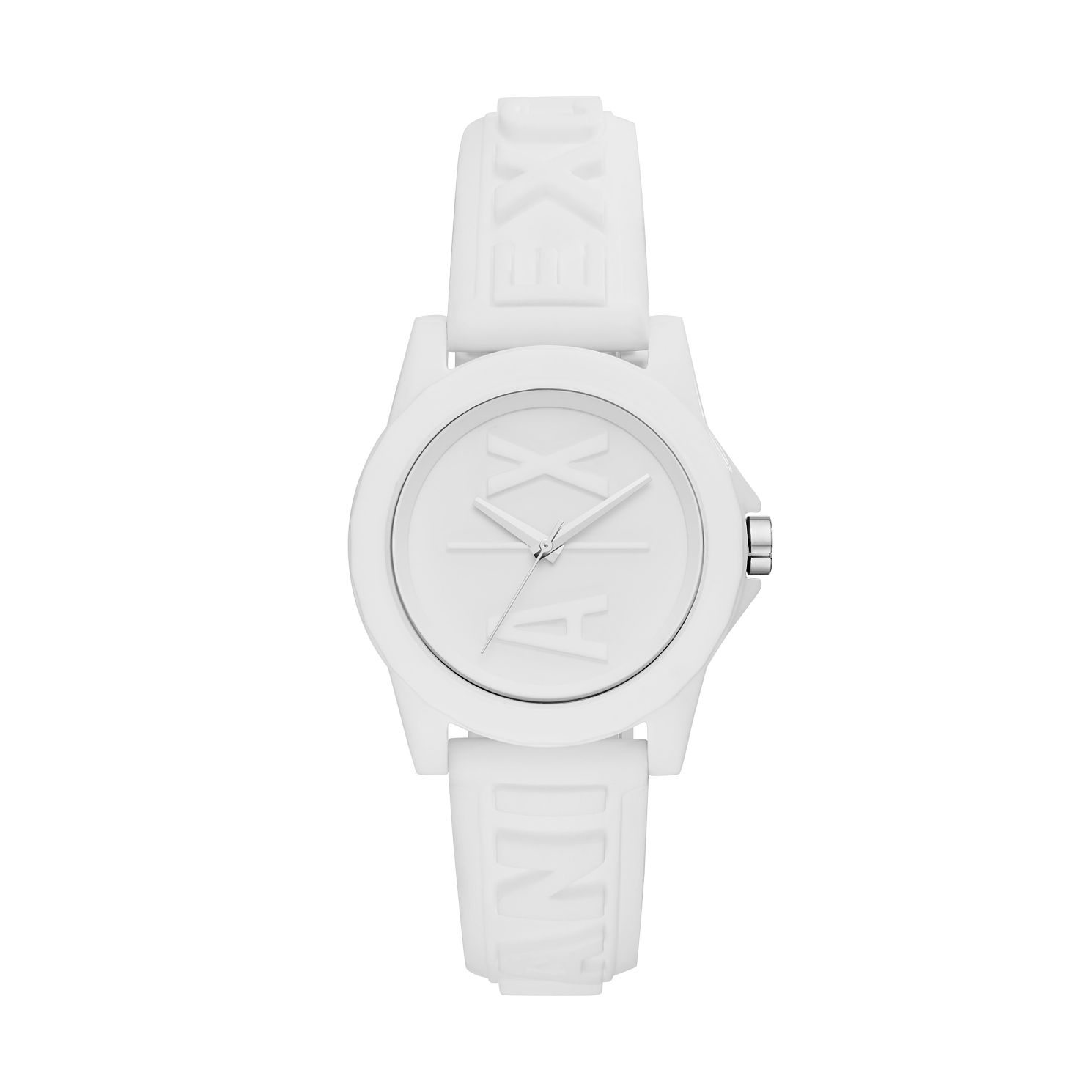 Armani Exchange Ladybanks Ladies' White Silicone Strap Watch - Product number 5326664