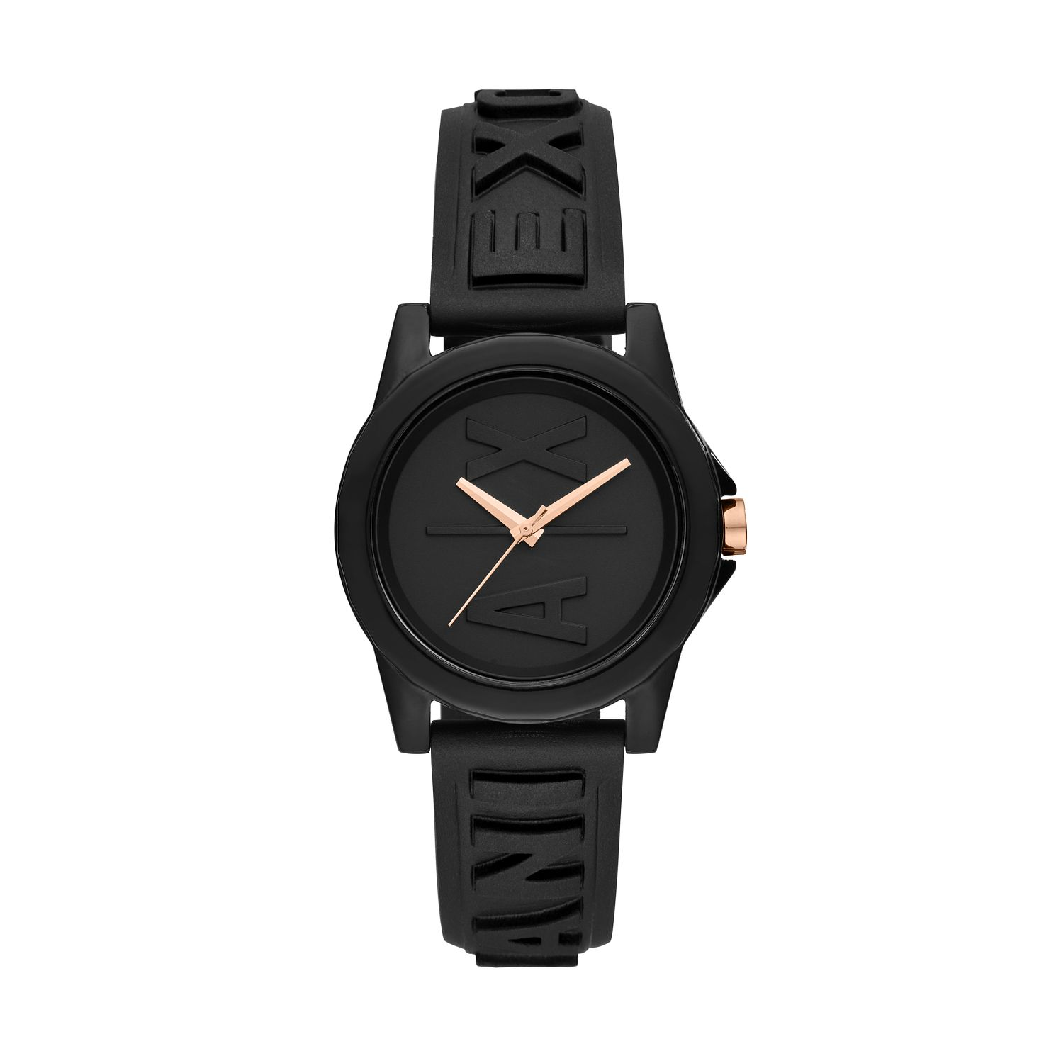 Armani Exchange Black Silicone Strap Watch - Product number 5326672