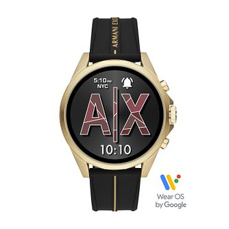 Armani Exchange Connected Black Silicone Strap Smartwatch - Product number 5326710
