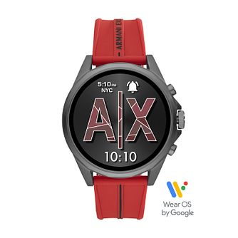 Armani Exchange Connected Red Silicone Strap Smartwatch - Product number 5326729